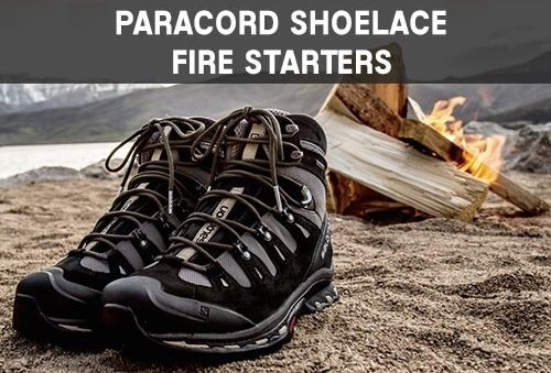 Paracord Shoelace Fire Starter